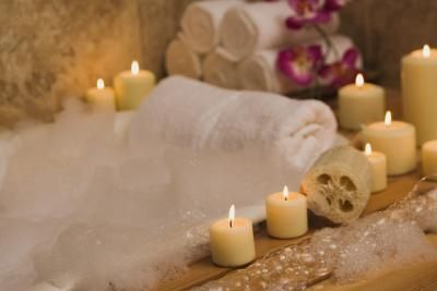 Relax in a bath with hand made natural products to sooth away stress