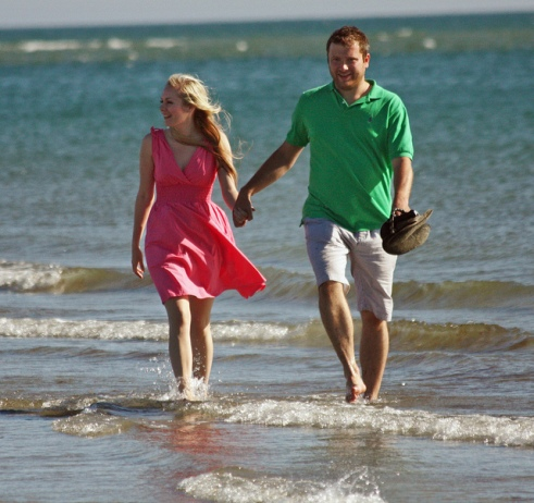 Taking your shoes off and walking barefoot in the sea helps to rebalance your energetic field.
