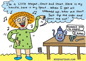teapot cartoon