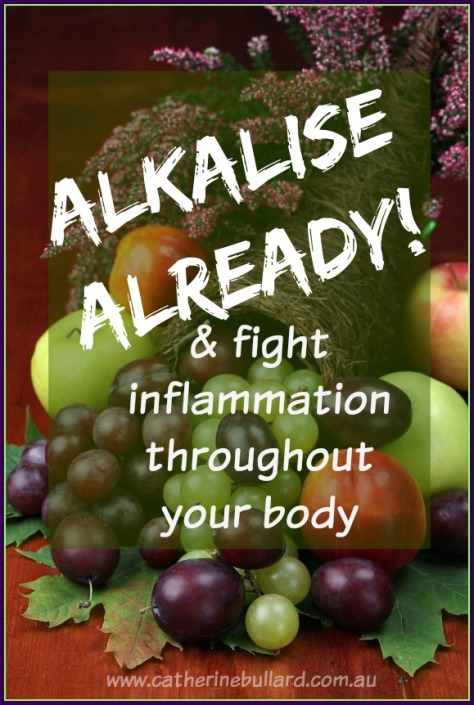 Reduce acidity in your body to reduce inflammation