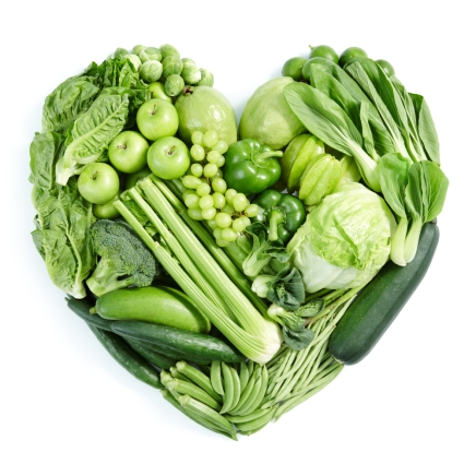 Alkaline green vegetables
