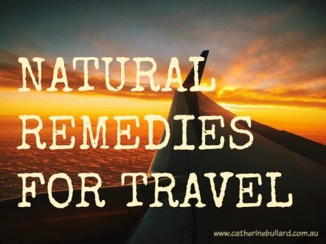 natural remedies for travel