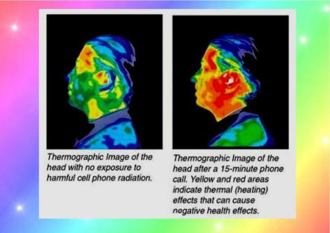 Sleeping with a mobile phone near your head causes thermal (heating) effects all night long